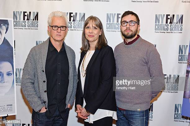John Slattery Amy Morton and Writer/Director Lance Edmands attend the New York Film Critics Series screening and discussion of the film 'Bluebird' at...