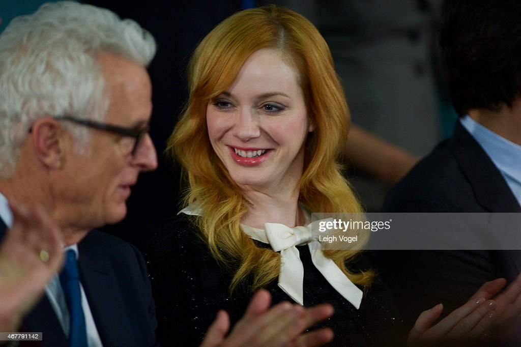 John Slattery and Christina Hendricks attend the Smithsonian Museum Of American History: Mad Men Ceremony at Smithsonian National Museum Of American History on March 27, 2015 in Washington, DC.