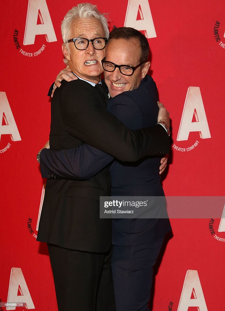 John Slattery and Clark Gregg attend Atlantic Theater Company 30th Anniversary Gala at The Pierre Hotel on March 2, 2015 in New York City.
