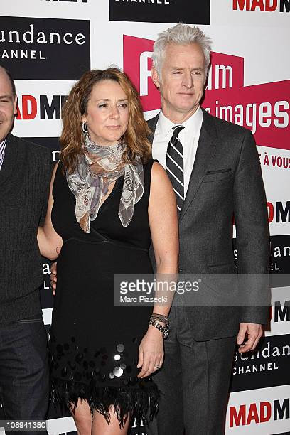 John Slattery and his wife Talia Balsam attend the 'Mad Men' photocall at Forum Des Images on February 9 2011 in Paris France