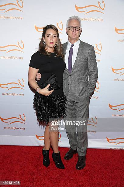 John Slattery and Talia Balsam attend '2014 A Funny Thing Happened On The Way To Cure Parkinson's' event at The Waldorf=Astoria on November 22 2014...