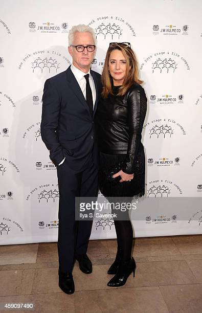 John Slattery and Talia Balsam attend the New York Stage and Film 2014 Winter Gala at The Plaza Hotel on November 16 2014 in New York City