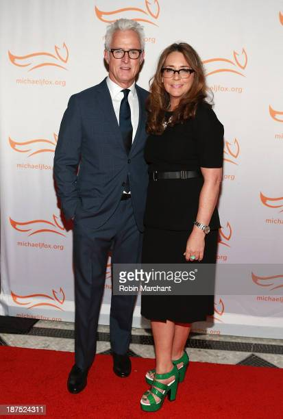 John Slattery and Talia Balsam attends 2013 A Funny Thing Happened On The Way To Cure Parkinson's at The Waldorf=Astoria on November 9 2013 in New...