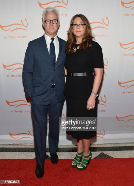 John Slattery and Talia Balsam attends the 2013 A Funny Thing Happened On The Way To Cure Parkinson's event benefiting The Michael J Fox Foundation...