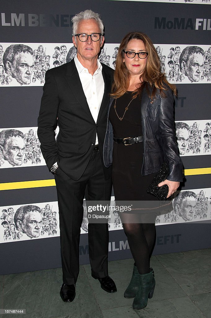 John Slattery (L) and wife Talia Balsam attend the Museum of Modern Art film benefit honoring Quentin Tarantino on December 3, 2012 in New York City.