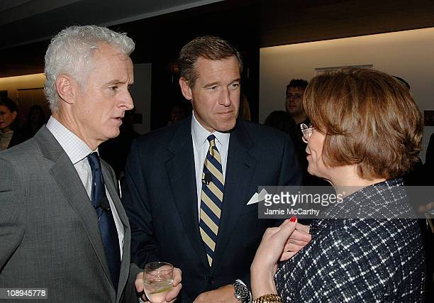 John Slattery, Brian Williams and Ann Moore, Chairman and CEO of Time Inc. Attend TIME's Person of the Year Luncheon at Time & Life Building on...