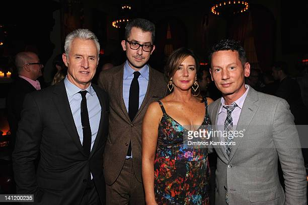 John Slattery Michael Hainey Talia Balsam and Jim Nelson attend GQ And John Slattery Celebrate The Launch Of The April 2012 Issue at The Jane Hotel...