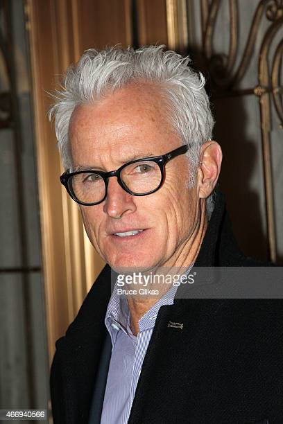 """John Slattery poses at """"The Heidi Chronicles"""" Broadway Opening Night at The Music Box Theatre on March 19, 2015 in New York City."""