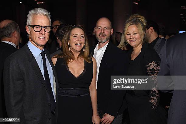 John Slattery Talia Balsam and Caroline Rhea attend the 25th IFP Gotham Independent Film Awards cosponsored by FIJI Water at Cipriani Wall Street on...