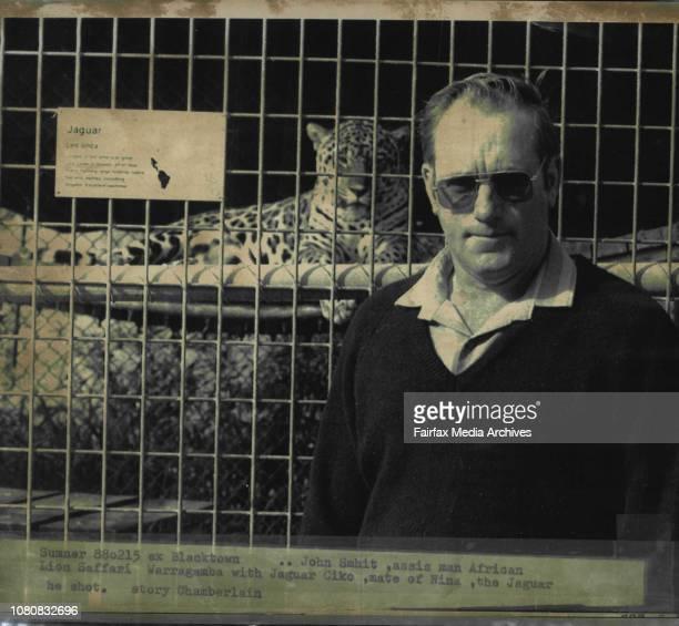 John Smhit assis man African Lion Saffari Warragamba with Jaguar Ciko mate of Nina the Jaguar he shotAssistant manager of the park John Schmidt said...