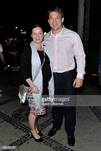 John Smit and guest attend the Laureus Welcome Party at the Rio Scenarium during the 2013 Laureus World Sports Awards on March 10 2013 in Rio de...