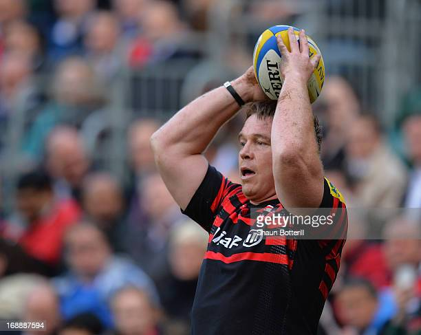 John Smit of Saracens during the match between Saracens and South African Barbarians at Honourable Artillery Company on May 16 2013 in London England