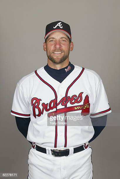 John Smoltz of the Atlanta Braves poses for a portrait during photo day at CrackerJack Stadium at Disney's Wide World of Sports on February 28 2005...