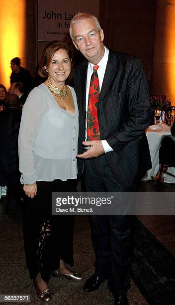 John Snow and the chairman of the VA museum Paula Ridley attend the Turner Prize 2005 at Tate Britain on December 5 2005 in London England David...