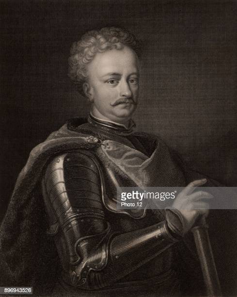 John Sobieski John III king of Poland from 1674 Polish warrior and statesman From 'The Gallery of Portraits' by Charles Knight Engraving