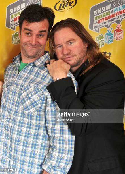 John Solomon and Val Kilmer attend the premiere of 'MacGruber' at 2010 SXSW Festival at Paramount Theater on March 15 2010 in Austin Texas