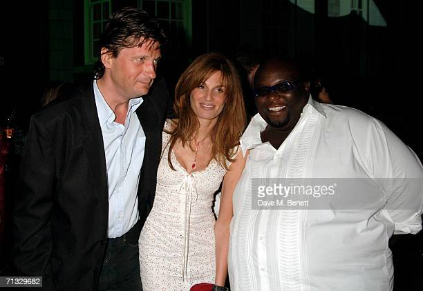 John Somerset Jemima Khan and Ade attend the Quintessentially Summer Party at Debenham House on June 15 2006 London England