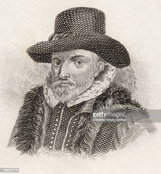 John Speed 1552 To 1629 English Historian And Cartographer From Crabbes Historical Dictionary Published 1825