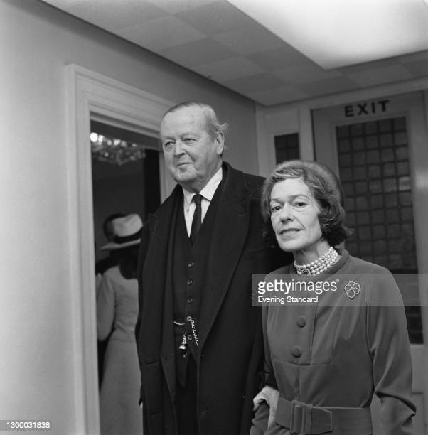 John Spencer-Churchill, 10th Duke of Marlborough marries the former Frances Laura Charteris at a civil ceremony in London, UK, 26th January 1972. He...