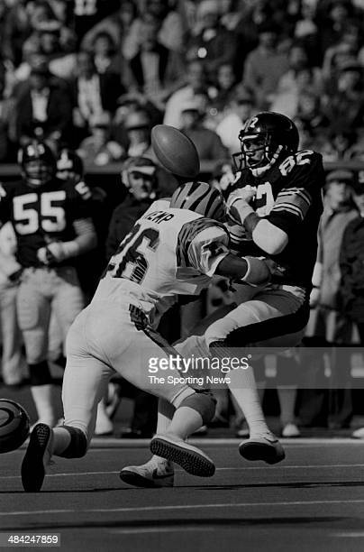 John Stallworth of the Pittsburgh Steelers is tackled circa 1970s