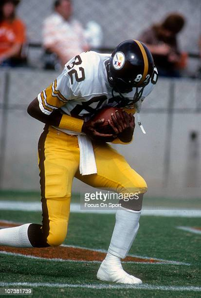 John Stallworth of the Pittsburgh Steelers warming up before the start of an NFL football game circa 1980 Stallworth played for the Steelers from...