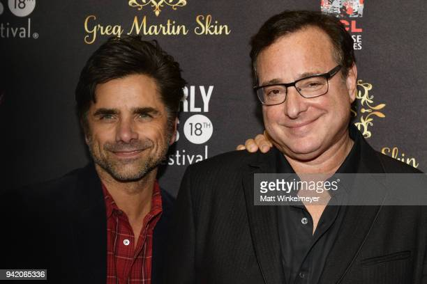 John Stamos and Bob Saget attend the 18th Annual International Beverly Hills Film Festival Opening Night Gala Premiere of Benjamin at TCL Chinese 6...