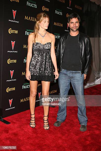 John Stamos and Daniella Utsy during Maxim Magazine's 7th Annual Hot 100 Party Arrivals at Buddha Bar in New York New York United States