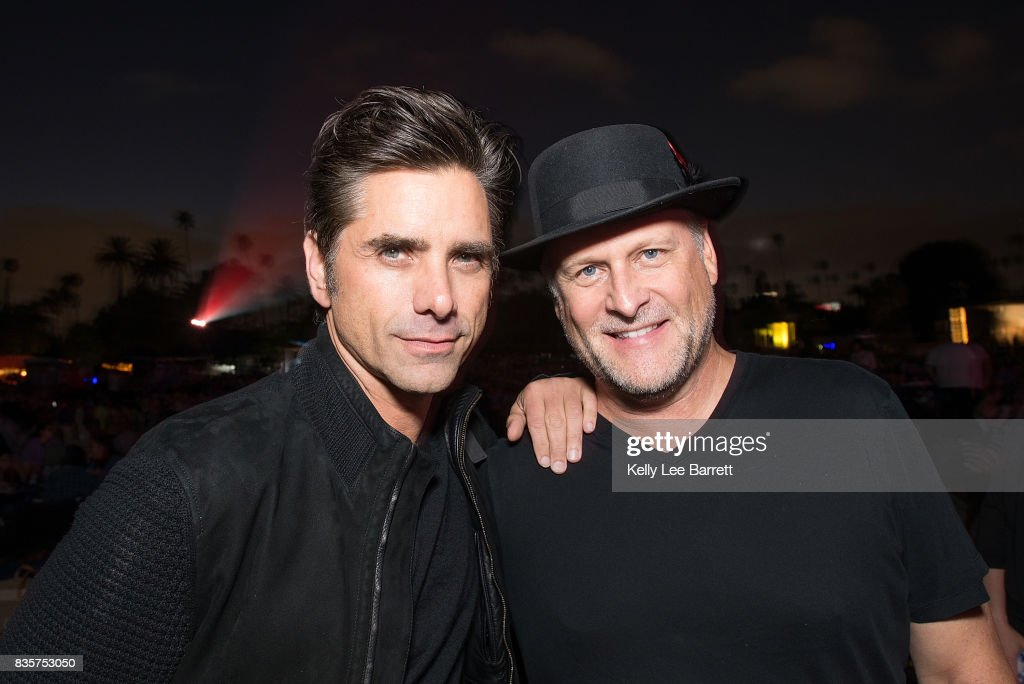 John Stamos and Dave Coulier attend Cinespia's screening of 'Some Like It Hot' held at Hollywood Forever on August 19, 2017 in Hollywood, California.