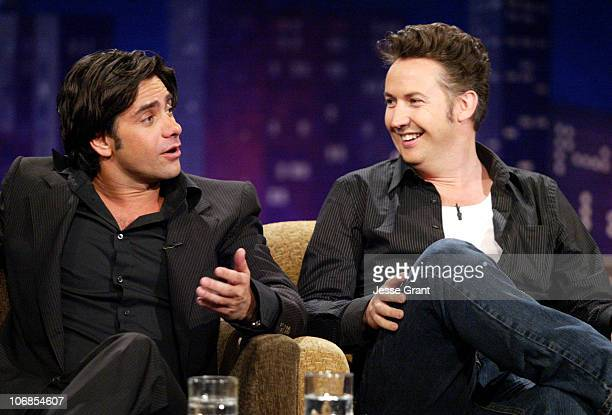 John Stamos and Harland Williams on the 'Jimmy Kimmel Live' show on ABC Photo by Jesse Grant/WireImagecom/ABC