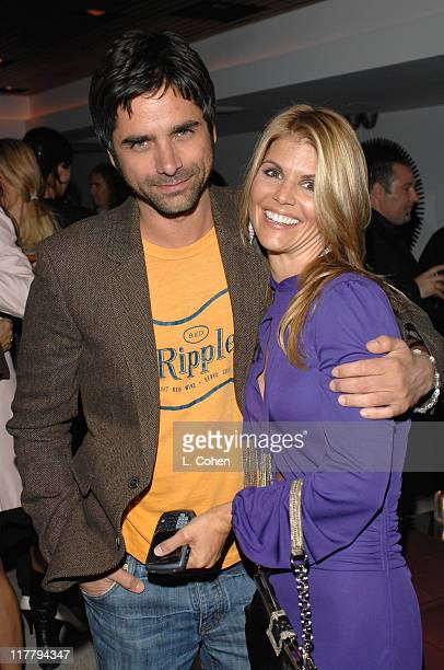 John Stamos and Lori Loughlin during Target Hosts LA Fashion Week Party for Designer Mossimo Giannulli Inside at Area in West Hollywood California...