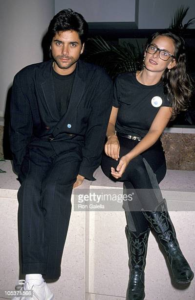 John Stamos and Marlee Matlin during 'Housing Now' Protest March October 7 1989 in Washington DC United States
