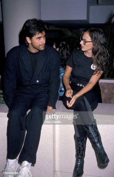 John Stamos and Marlee Matlin during Housing Now Protest March October 7 1989 in Washington DC United States