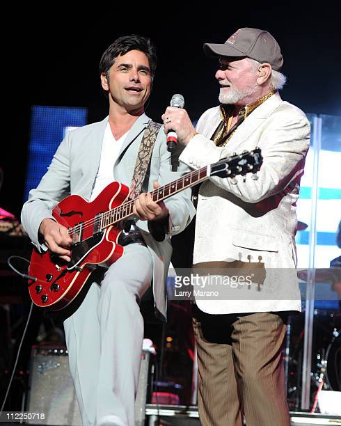John Stamos and Mike Love of the Beach Boys perform at The Voices Against Brain Cancer Foundation Presents The 1st Annual Florida Sounding Off For A...