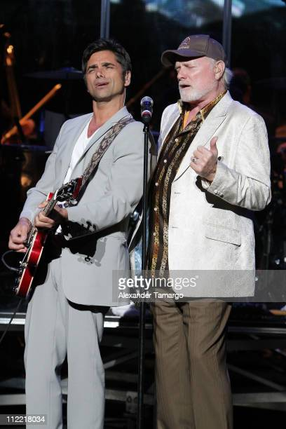 John Stamos and Mike Love of the The Beach Boys at the 1st annual Florida Sounding Off For A Cure benefit concert presented by the Voices Against...