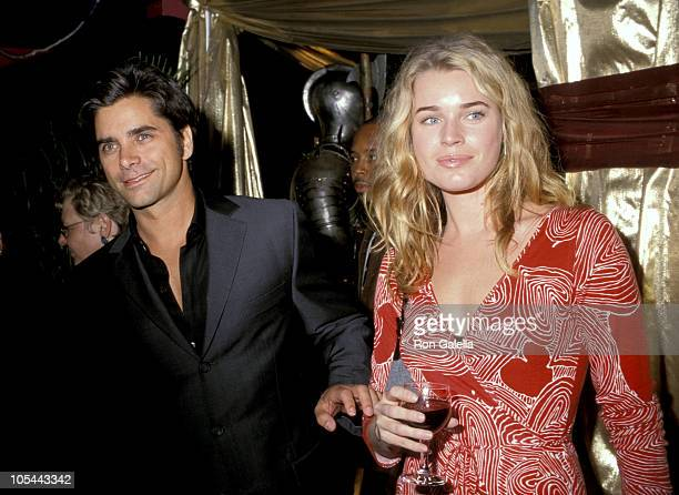 John Stamos and Rebecca Romijn during Opening of Annie January 11 1999 at New Amsterdam Theater in New York City New York United States