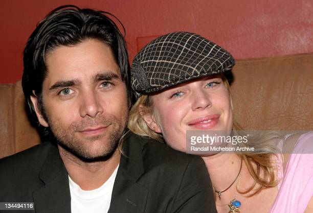 John Stamos and Rebecca RomijnStamos during 2004 SXSW Festival 'Knots' Premiere at Firehouse Lounge in Austin Texas United States