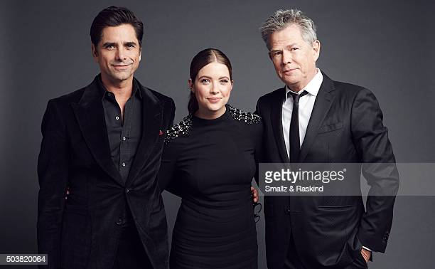 John Stamos Ashley Benson and David Foster pose for a portrait at the 2016 People's Choice Awards at the Microsoft Theater on January 6 2016 in Los...