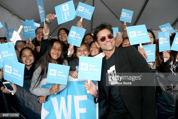 John Stamos attends WE Day California at The Forum on April 19 2018 in Inglewood California