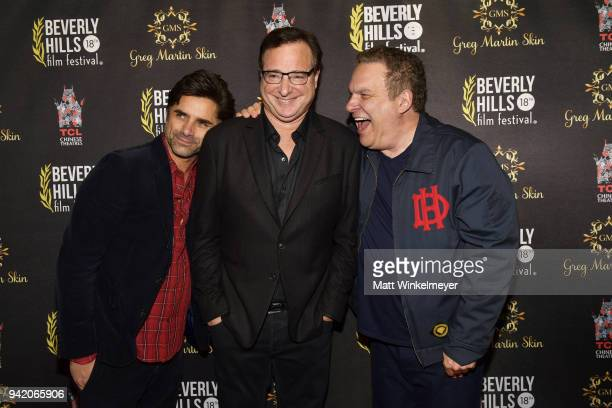 John Stamos Bob Saget and Jeff Garlin attend the 18th Annual International Beverly Hills Film Festival Opening Night Gala Premiere of Benjamin at TCL...