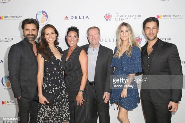John Stamos Caitlin McHugh Debbie Bickerstaff Glen Bickerstaff Paige O'Brien and Josh Peck attend The Elizabeth Taylor AIDS Foundation and...