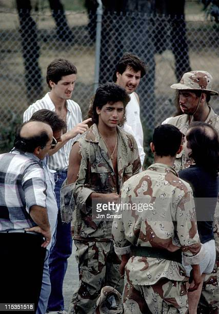 John Stamos during On the Set of 'Never Too Young To Die' October 5 1985 in San Pedro California United States
