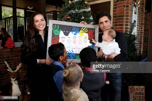 John Stamos his wife Caitlin McHugh and their son Billy Stamos attend a special event in which John Stamos is named as national spokesman for...