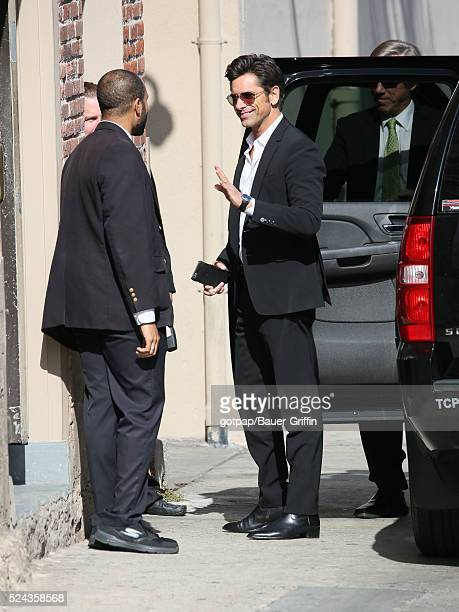 John Stamos is seen at 'Jimmy Kimmel Live' on April 25 2016 in Los Angeles California