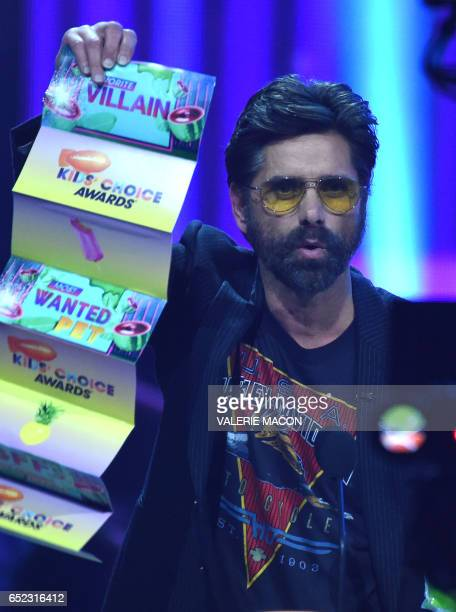 John Stamos on stage at the 30th Annual Nickelodeon Kids' Choice Awards March 11 at the Galen Center on the University of Southern California campus...
