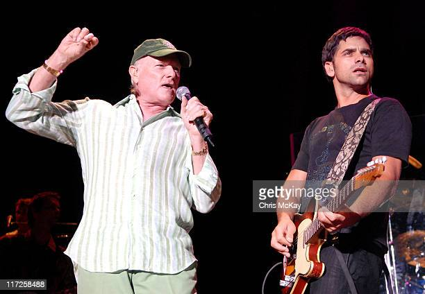 John Stamos performing with Mike Love of The Beach Boys