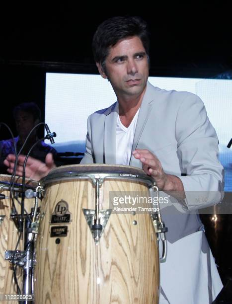 John Stamos performs at the 1st annual Florida Sounding Off For A Cure benefit concert presented by the Voices Against Brain Cancer Foundation...