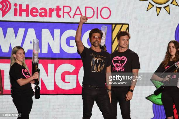 John Stamos speaks onstage at 2019 iHeartRadio Wango Tango presented by The JUVÉDERM® Collection of Dermal Fillers at Dignity Health Sports Park on...