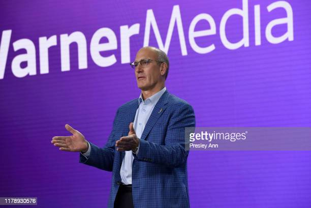John Stankey President Chief Operating Officer of ATT and Chief Executive Officer of WarnerMedia speaks onstage at HBO Max WarnerMedia Investor Day...