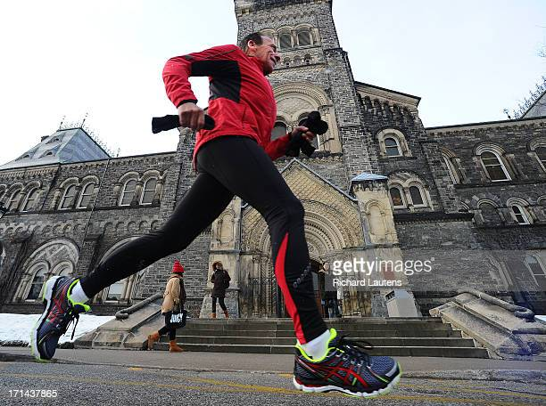John Stanton is the founder of the running store chain The Running Room He is seen alone and with Star writer Jen Wilson running on the UofT campus...