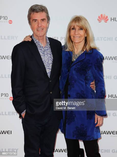 John Stapleton and Lynn Faulds Wood attend the 'From Selfie To SelfExpression Exhibition presented by Huawei in partnership with the Saatchi Gallery...